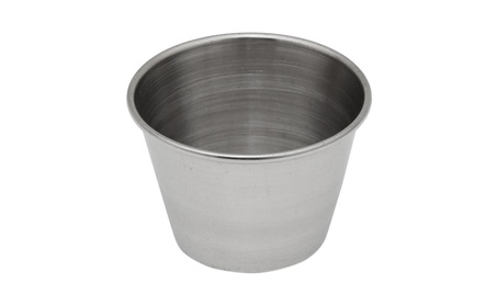 Crestware Stainless Steel 2.5 ounce Sauce Cup 5aeeb911-399f-4a99-ad9c-1989d24e366f