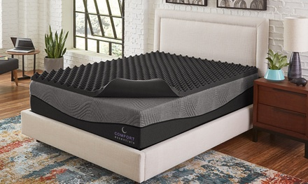 "Comfort Essentials 3"" Reversible Ebonite Memory Foam Topper"