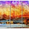 San Francisco Bridge - Contemporary Metal Wall Art