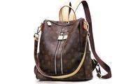 Backpack Purse Women Fashion Leather Shoulder Bag Waterproof Travel Handbag (STYLE SOLID) photo