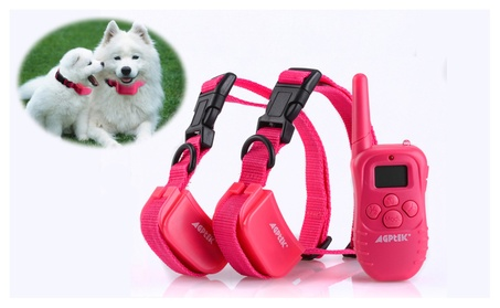 300 Yard Rechargeable LCD 100LV Shock Vibra Remote Dog Training Collar e223679a-346b-4fe1-a4a3-acac3ab1eb39