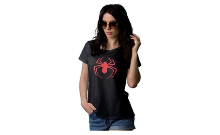 Womens Spiderman red logo t shirt 31bfaa08-8699-47c9-b1e9-5e6c66ee7cdc