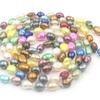 Freshwater Colorful Pearl Beads Knot Long Necklace for Women