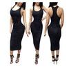 Women´s Tank Sleeveless Slim Bodycon Pencil Midi Tight Dress