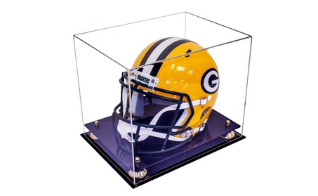 Deluxe Acrylic Full Size NCAA / NFL Pro Football Helmet Display Case f4f73b85-3ab1-474f-be5f-9bd694d36ade