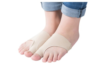 New Fabric Gel Toe Bunion Pad Protector Sleeves Corrector 9cd27eae-185f-4655-afdd-567713dcd7c0