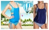 Chique Clinic: Striped Tankini Swimsuit