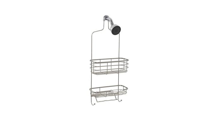 Over Shower Caddy Hanging Bathroom Organizer Stainless Steel Shelf