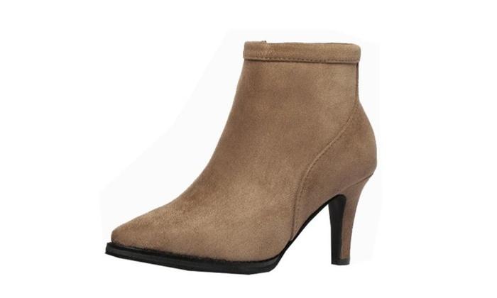 Women's Solid Suede High Heels