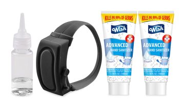 Wearable Sanitizer Bracelet with 2 Hand Sanitizers (3.4 oz)