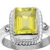 Orchid Jewelry 925 Sterling Silver 2 Carat Lemon Quartz Ring