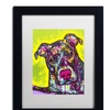 Dean Russo 'Brindle' Matted Black Framed Art
