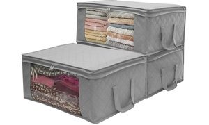 Foldable Storage Bag Organizer (1-,2-, or 3-Pack)