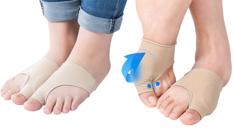 QPower New Fabric Gel Toe Bunion Pad Protector Sleeves Corrector bede0efd-59ca-4675-948d-220c6f4206f5