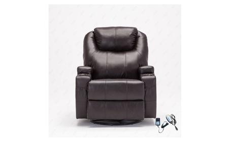 360 Degree Swivel Leather Massage Recliner Chair Living Room Chair 1695d540-b4b9-47e8-a785-97393f54f5b3