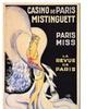 'Casino de Paris Mistinguett' Canvas Rolled Art