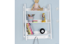 Kids Ladder Wall Shelf in White or Gray