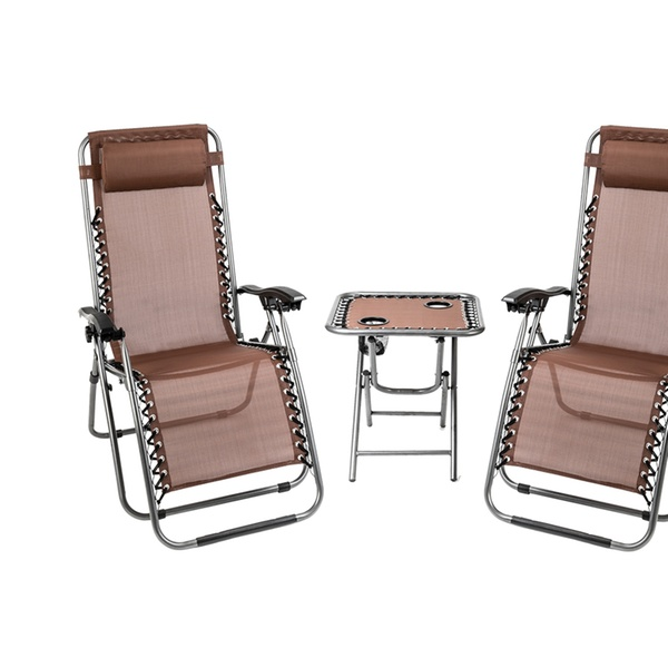 Up To 15 Off On 3 Pcs Zero Gravity Chair Pati Groupon Goods
