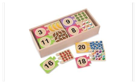 Melissa & Doug Self-Correcting Numbers Wood Puzzle 83929450-4e52-4045-899e-999090ab1fe8