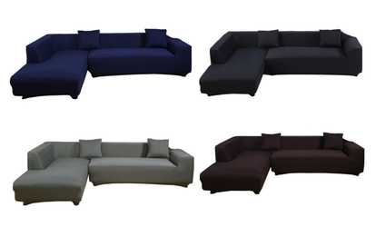 Image Placeholder Image For L Shape Stretch Elastic Fabric Sofa Cover  Sectional/Corner Couch Cover