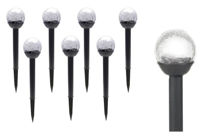 8 Pack Solar Crackle Globe Lights All Weather Resistant Lights cafb7ecf-1f3c-4814-a536-e5294fa747c9