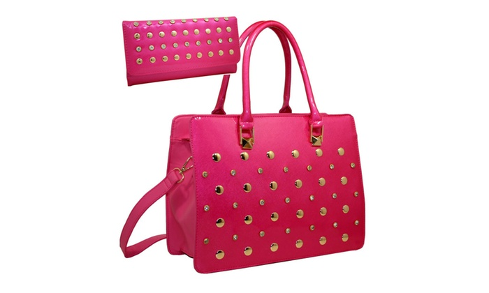 2 Tones Fashion Satchel Set