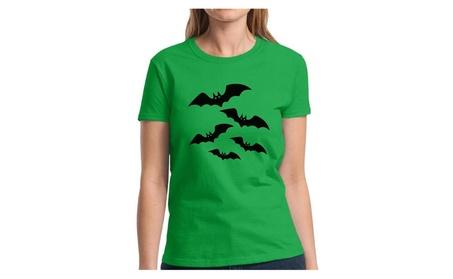 Women's Halloween Bats T shirts Halloween Bats Gift for Halloween