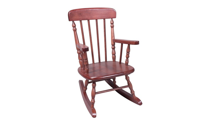 Deluxe Childu0027s Spindle Rocking Chair (Cherry)