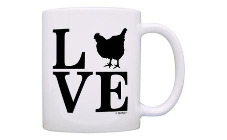 Barnyard Farm Animal Love Chickens Gift Coffee Mug Tea Cup 5bc71161-f768-4993-b78e-57878a9d7a42