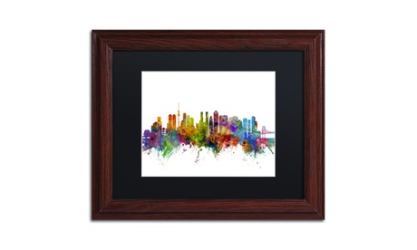 Michael Tompsett 'Tokyo Japan Skyline' Matted Framed Art 8ddffbbb-618d-44b4-ac1c-ff4718fc5596