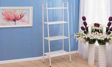 4-Tier Metal Storage Display Wall Shelf Ladder Bookcase Shelving Unit