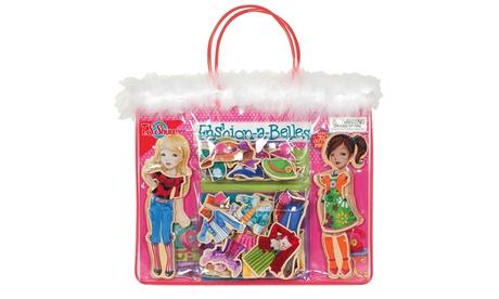 T.S. Shure - Fashion-A-Belles Wooden Magnetic Dress-Up Dolls bc2afe1b-9a09-4bec-9da0-91331af38a06
