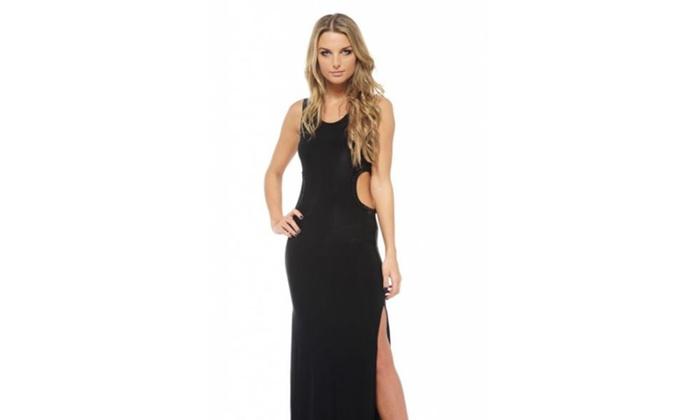 AX Paris Cut Out Split Maxi  Dress