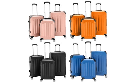 3 Piece Expandable Spinner Luggage Set Hard Shell Lightweight Suitcase Was: $159.99 Now: $67.99