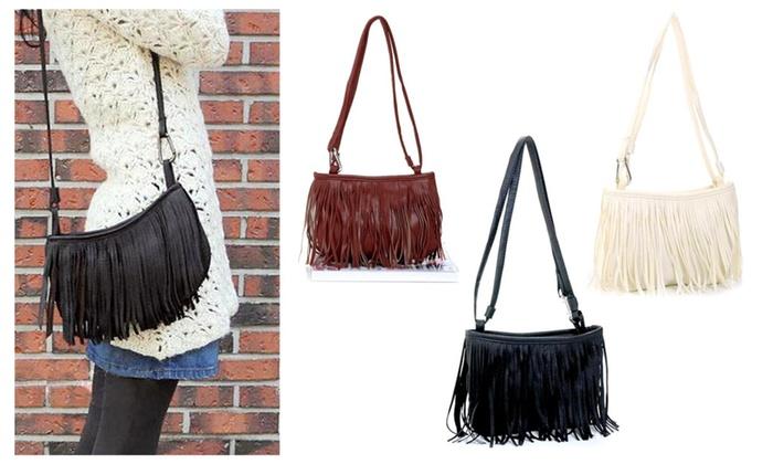 Woman's Tassel Shoulder Cross Handbag