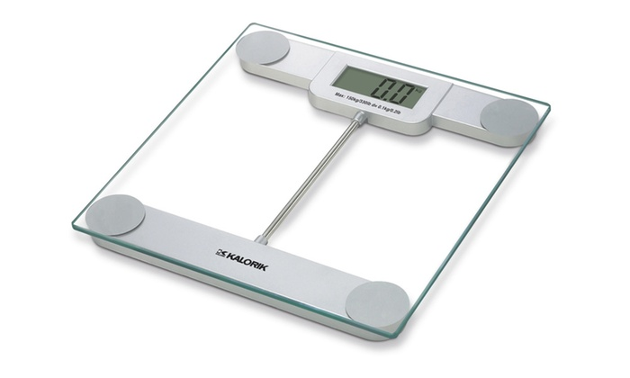 Beau Kalorik Digital Glass Bathroom Scale Kalorik Digital Glass Bathroom Scale