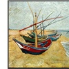 Fishing Boats on the Beach by Vincent van Gogh