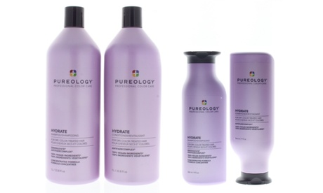 Pureology Hydrate Shampoo or Conditioner or Duo (9 Fl. Oz or 33.8oz)