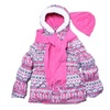 Girls' Puffer Coat Jacket, Scarf & Hat 4