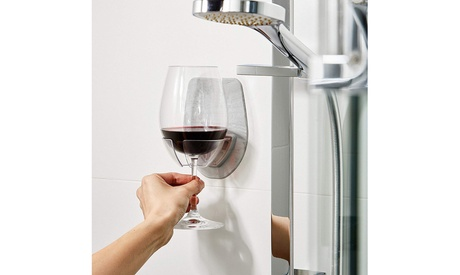 Inverlee Watt Plastic Wine Glass Holder Bath Shower Red Wine Glass Holder