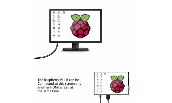 "Pen Case 3,5 /""Zoll Touchscreen Monitor LCD Display 480x320 für Raspberry Pi 4"