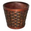 "Cheungs Wooden FP-2970Rd-07C 7"" Round Planter"