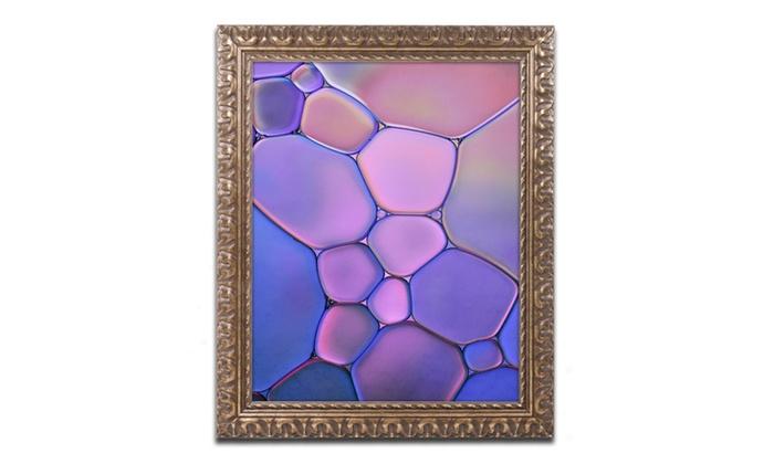 Cora Niele Purple Stained Gl Ornate Framed Art