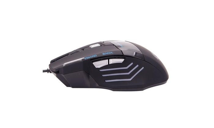 Black 7-Button Wired Game Mouse Fantastic Alternating Light USB 2.0 Mice