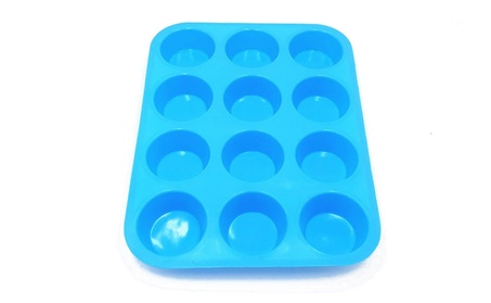Colorful Twelve Small Round Cup Cake Mold Baking Kitchen Tool f60b277a-daa4-47e1-b1a1-999cf599db5d