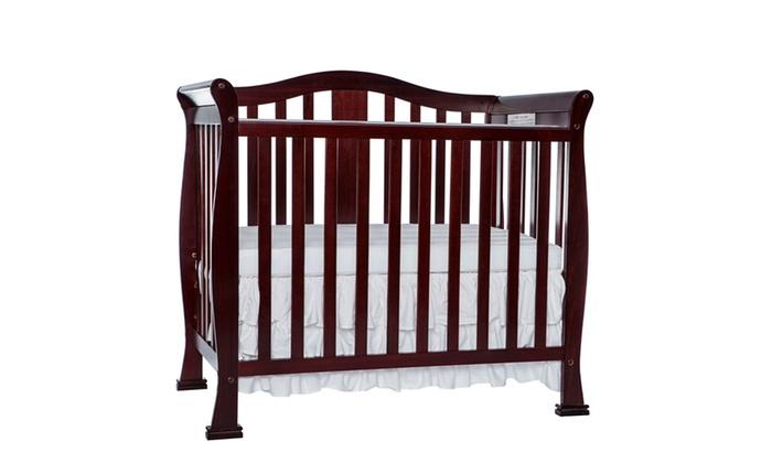 Groupon Goods: Dream On Me Naples 4 In 1 Convertible Mini Crib ...
