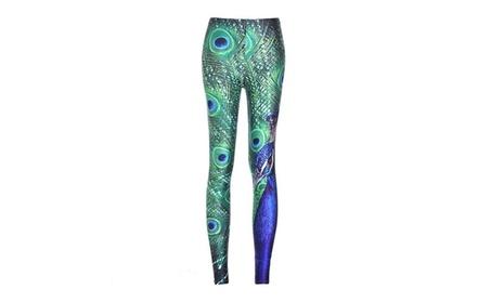 Peacock Pattern Yoga Pant 8f9b7691-da6a-4673-b32d-d46233ae96ae