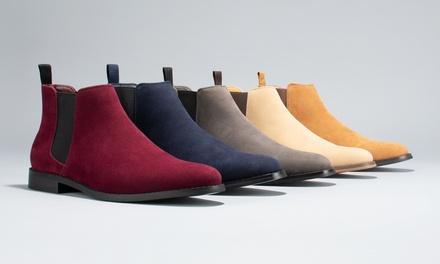Harrison Men's Classic Scott Suede Chelsea Boots