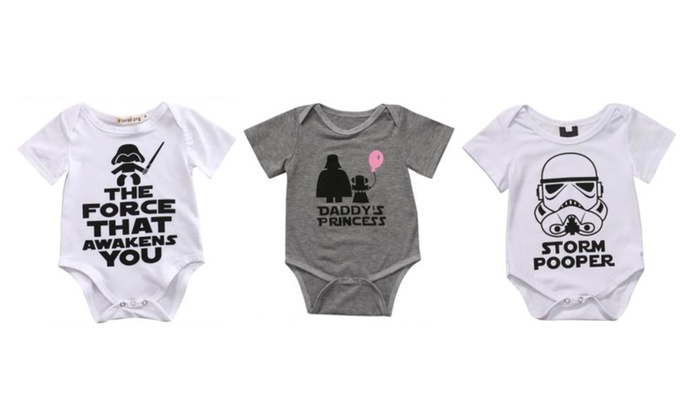 4b053926c5db Fun Baby One Piece Bodysuit Star Wars Inspired