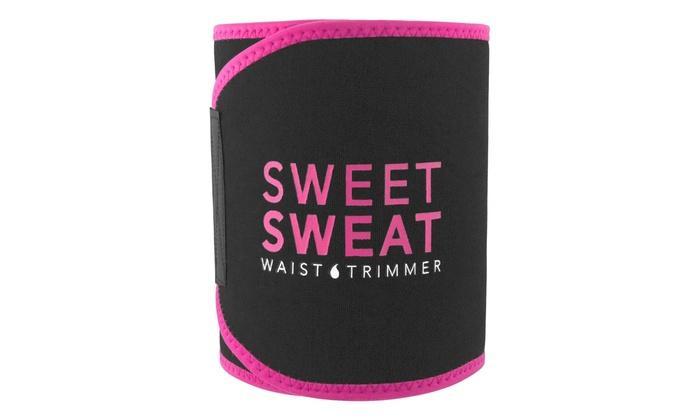 sweet sweat waist trainer groupon